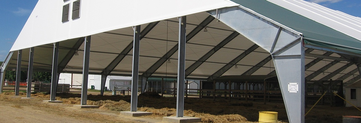 open fabric structure steel frame