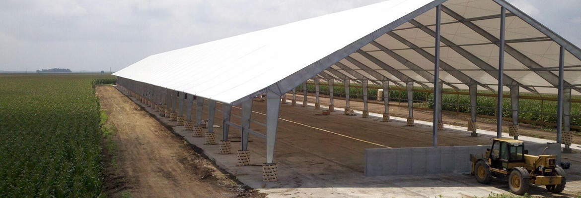 fabric structures cattle barn