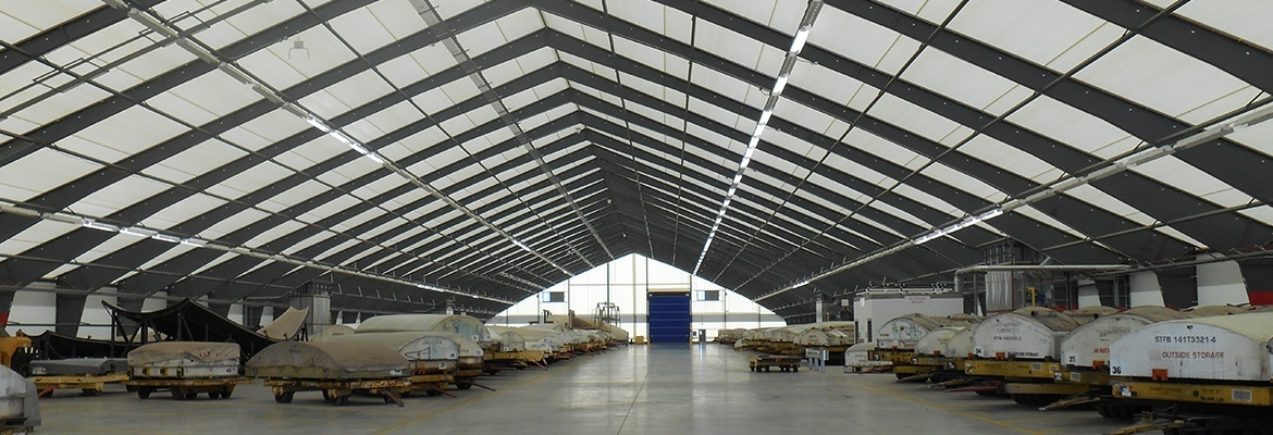 fabric assembly hangar building