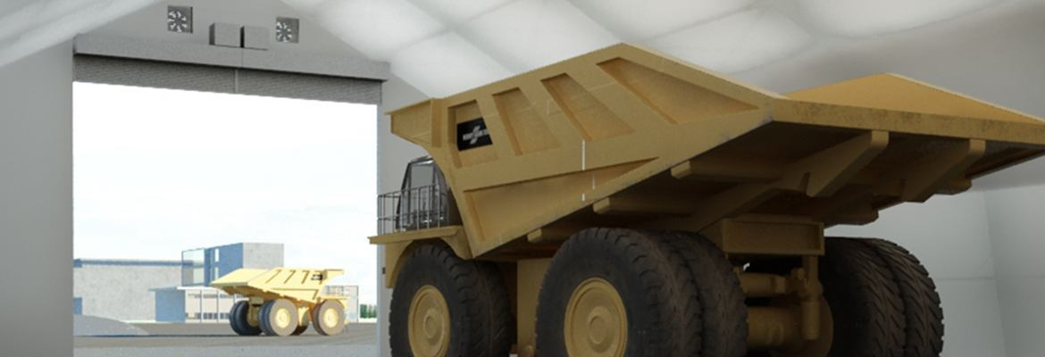 mining truck shop fabric structure Canada
