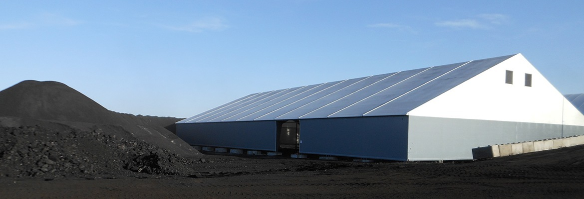 coal storage fabric structure Canada