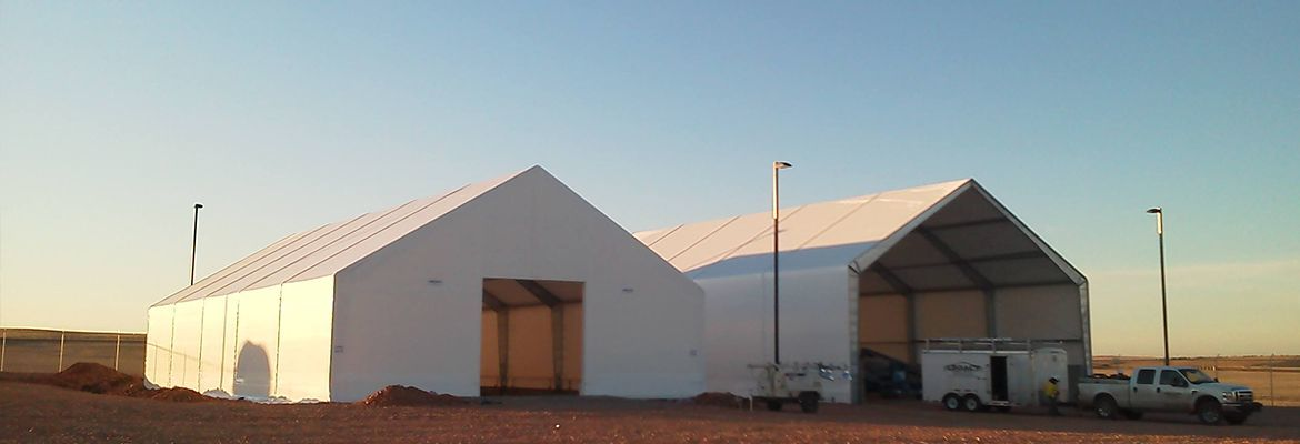 fabric structure gas oil drum storage tent