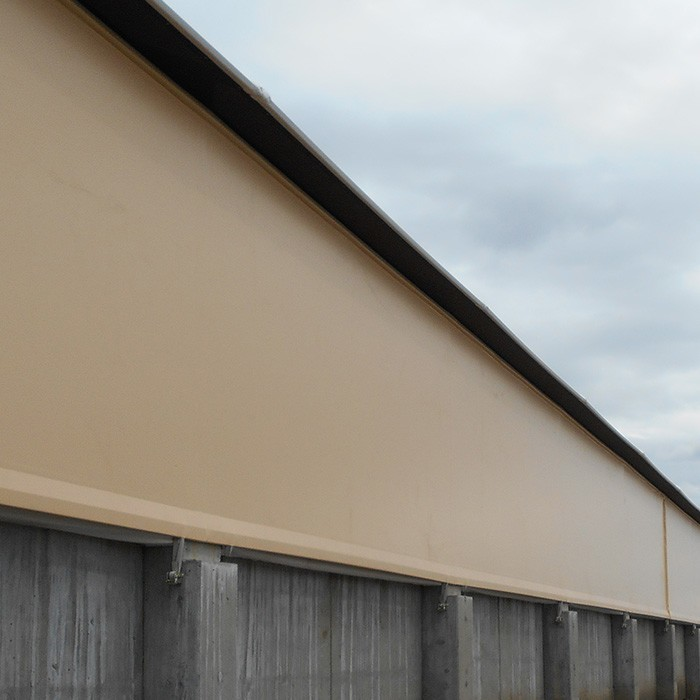fabric structure sidewall side wall