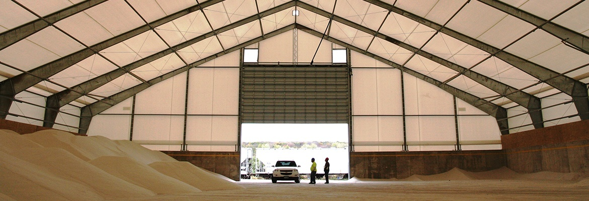 Fabric structure salt storage government township