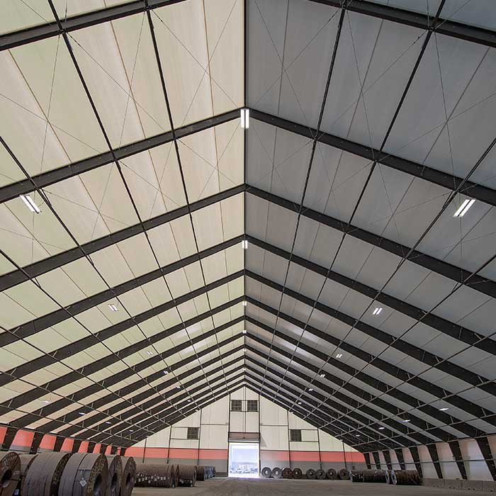 fabric structure frame option steel Ibeam