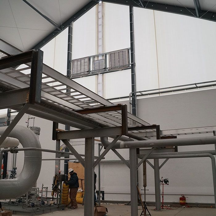fabric structure hanging load capacity