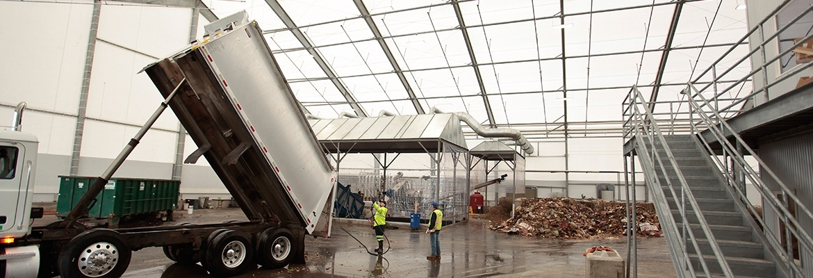 waste processing fabric structure canada