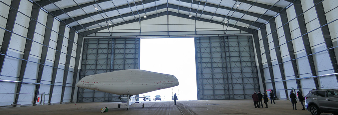 Off the grid offgrid aircraft hangar
